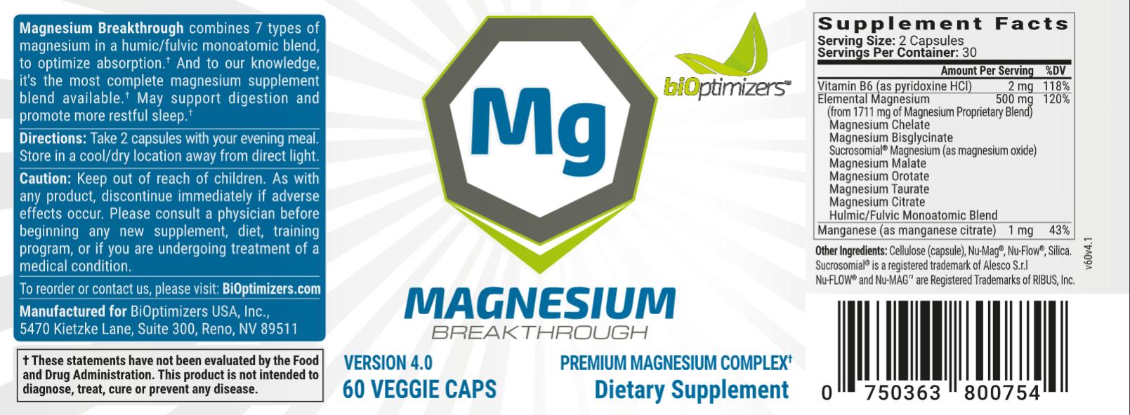 Advertisement - Magnesium Breakthrough -The Superhero Nutrient